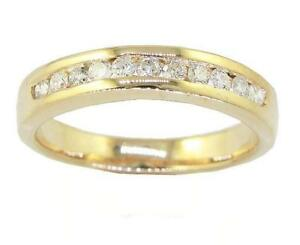 VVS1 E 0.55 Ct Natural Diamond 14K Solid Gold Appraisal Wedding Ring Channel Set