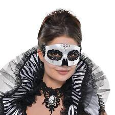 Día de los muertos Máscara Halloween señoras vestido de disfraz accesorio Esqueleto Calavera