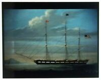Photographic reproduction of a three masted ship painting - Nautical Landscape