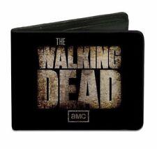 AMC THE WALKING DEAD OFFICIAL LOGO BI-FOLD WALLET CREDIT CARD/ID HOLDER (BLACK)