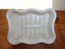 Antique STANDARD SOAP HOLDER Dish Spigot Mount Victorian Porcelain Hardware