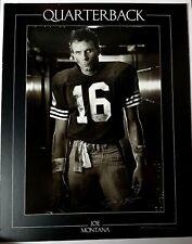 BIG 24x19 Joe Montana Signed Auto Autographed Football Ball 49ers Poster *READ*