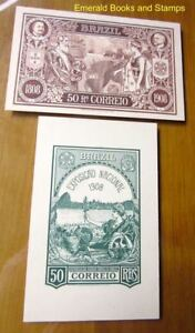 EBS Brazil Brasil 1908 - 2 Beautiful Cards - Centenary & National Exposition