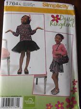 Simplicity #1764 Girls 3 - 8 Daisy Kingdom Dress Skirt Top and Cute Bag
