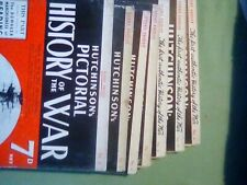 Hutchinson's Pictorial History Of The War  Series 1 (7 volumes)