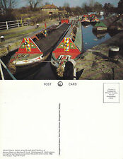 1980's NARROW BOATS AT RICKMANSWORTH HERTFORDSHIRE UNUSED COLOUR POSTCARD