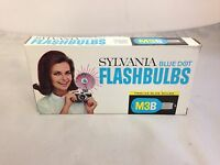 Pack of 12 Sylvania M3B Blue Dot Blue Flashbulbs - New in Package