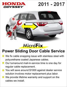 2011- 2017 Honda Odyssey Sliding Door Motor Cable Repair Motor Service Only!