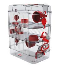 Zolux RODY3 TRIO Rot Käfig für Kleintiere Hamsterkäfig Kleintierkäfig