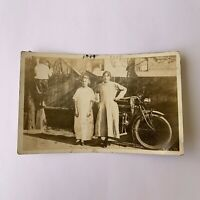 Antique 1910s RPPC Cleveland Ohio Backyard Motorcycle Postcard