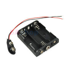 5x Hold 3 AA LR6 Size Battery Holder 4.5V Case Box With Snap Connector Wire Lead