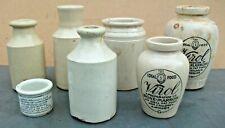 More details for seven vintage stoneware/earthenware bottles & pots.