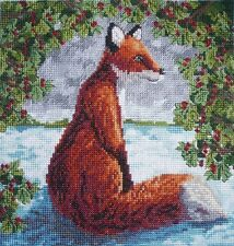 CL41 Brush with a Fox Counted Cross Stitch Chart by Vanessa Wells