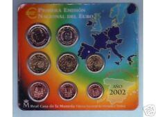 EURO  ESPAGNE 2002  SERIE COMPLETE 1 C  A  2 € NEUVE