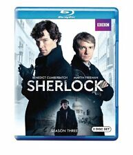 Sherlock Season 3 Original UK Version Blue Ray 2 Disc Set Holmes Moriarty NEW