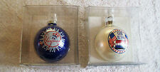 2 ORNAMENTS , NY YANKEES AND GOD BLESS AMERICA , GREAT PAIR, NIB CLEARANCE SALE