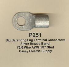 5 Bare Ring Lug Brazed Barrel Terminal Connector 30 Wire Awg 12 Stud Molex