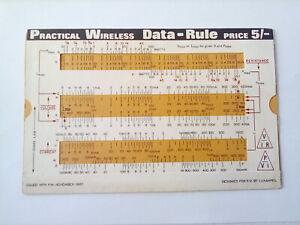 Vintage Practical Wireless Magazine Data Rule - issued November 1967