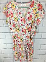 Time And Tru Women's Romper Large 12-14 Semi Fitted New tags Floral print (AB2)