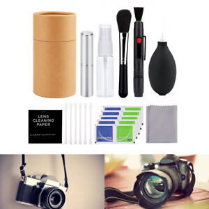 Camera Lens Cleaning Kit Air Blower + Cleaner Brush + Cotton Swab + Spray Bottle