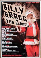 BILLY BRAGG BLOKES RARE 2003 AUSTRALIA PROMO CONCERT TOUR POSTER A2