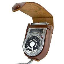 VTG 1950s Sekonic L-VI (L-6) Photoelectric Exposure Light Meter & Leather Case