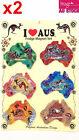 12pcs Souvenir Fridge Magnets Australian Maps Assorted Color Design LY-MGT072x2