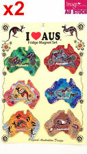 24pc Australian Souvenir Fridge Magnets Boomerangs Assorted Design Aboriginal