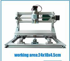 2500mw laser 3 Axis Pcb Milling DIY cnc 2418 GRBL router Pvc Engraver machine