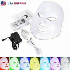 7 Colors LED Light Photon Face Mask Rejuvenation Skin Therapy Anti Wrinkles US
