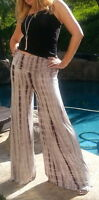 Maya Antonia-TALL SIZE - Palazzo Pants Grey-White Tie-Dye, Slimming,  Wide Leg