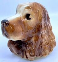 Vintage Royal Copley Pottery Ceramic Cocker Spaniel Dog Planter Wall Pocket