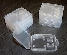 50 unidades SD + micro SD box tarjeta de memoria SDHC estuche, funda protectora, funda protectora MMC Case