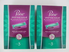 2 Boxes Poise Impressa Incontinence Bladder Supports Size 3 Expired 1/20