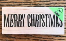 """Hero Arts """"Merry Christmas"""" Wood Mounted Rubber Stamp *NEW*"""