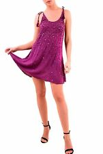 Free People Women's Sleeveless Just Watch Me Slip Dress Magenta RRP £78 BCF75