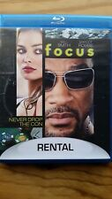 Focus (Blu-ray, 2015)  RENTAL VERSION Former Rental Great Condition