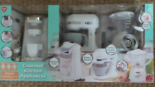 Playgo WHITE Gourmet Kitchen Appliances 3 pc set Coffee Maker / Mixer / Blender