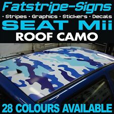 SEAT Mii CAMO ROOF GRAPHICS STRIPES STICKERS DECALS 1.0 SPORT VINYL CITY CAR