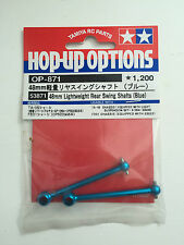 Tamiya 53871 48mm Lightweight Rear Swing Shafts (Blue) (TA05/F201) NIP