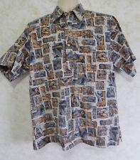 Go Barefoot A Hawaiian Tradition Men's Hawaiian Shirt Pull Over USA Size Large