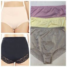 Rhonda Shear 3 pack Smooth Pinup Brief with Lace Trim 3 Colors Size XL