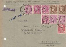 1948 BEAU RECOMMANDE DE COLMAR HAUT RHIN