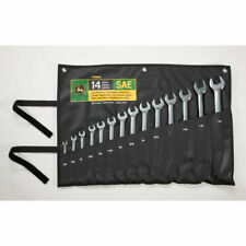 John Deere Sae 14 Piece Full Polished Combination Wrench Set Ty19976