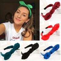 Fashion Bow Knot Hairband Women's Hair Hoop Simple Sweet Girls Suede Headband