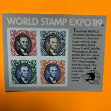 US Scott # 2433  World Stamp Expo '89 Souvenir Sheet MNH
