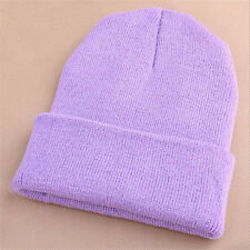 Pro Men's Women Beanie Knit Ski Cap Unisex Hip-Hop Blank Winter Warm Wool Hats