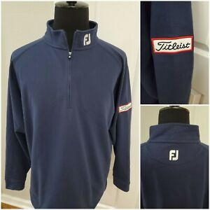 Footjoy Tour Titleist Patch Performance Sweater Golf Pullover Mens Size XL