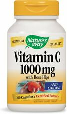 Vitamin C with Rose Hips, Nature's Way, 100 capsules 1000 mg