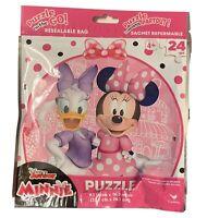 Disney Junior Minnie Mouse & Daisy Duck 24 piece Jigsaw Puzzle NEW SEALED